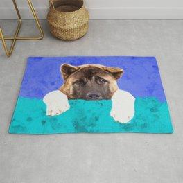 American Akita Puppy Rug
