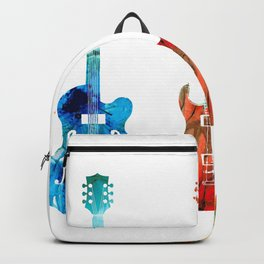 Abstract Guitars by Sharon Cummings Backpack