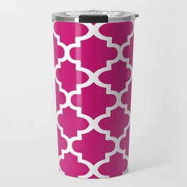 Arabesque Architecture Pattern In Dull Pink Travel Mug