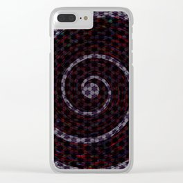 Abstract Vortex Pattern Clear iPhone Case