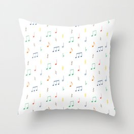 No-ta-tions Throw Pillow