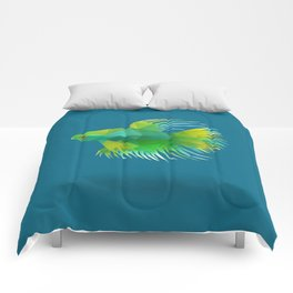 Japanese Fighting Fish. Comforters