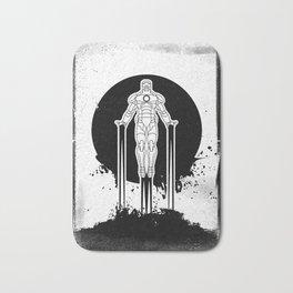 Black Brush - Iron man under a blood sky Bath Mat
