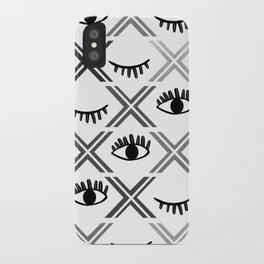 Original Black and White Eyes Design iPhone Case