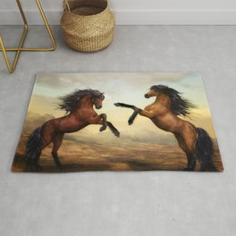 Wild Horses of the Desert Rug
