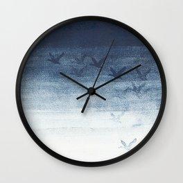 Birds in blue Wall Clock