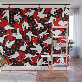 Ice Hockey Player Canada Flag Camo Camouflage Pattern Wall Mural