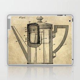 Coffee Pot Blueprint Laptop & iPad Skin