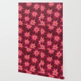 Burgundy Lace Rose Wallpaper