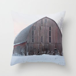 Soft Sunrise on a Winter's Morning Throw Pillow