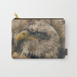 Bald eagle hand drawn computer art Carry-All Pouch