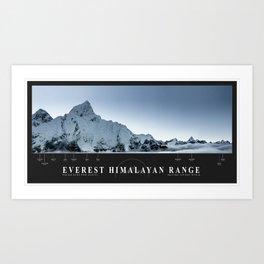 The Everest Himalayan Range Art Print