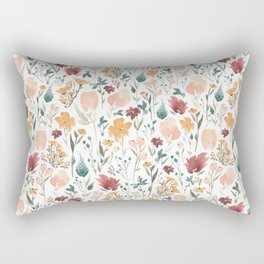 Deep Florals Rectangular Pillow