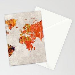 World Map 53 Stationery Cards
