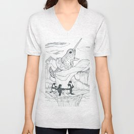 Narwhal and Friends Unisex V-Neck