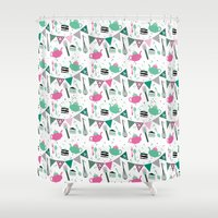 tea Shower Curtains featuring tea by andrealamas