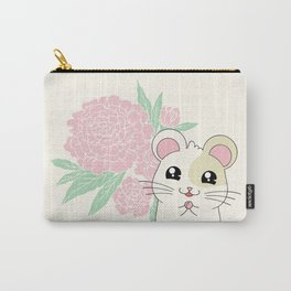 Hamster and Peony Carry-All Pouch