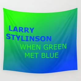Larry Stylinson. When green met blue. Wall Tapestry