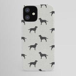 Black Labrador Retriever Dog Silhouette iPhone Case