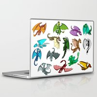 dragons Laptop & iPad Skins featuring Dragons by prpldragon