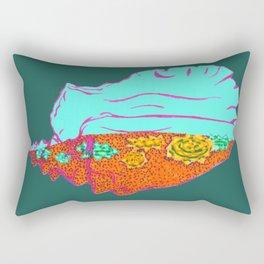 Conch Shell Terrarium Rectangular Pillow