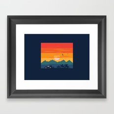 Back to the Wild West Framed Art Print