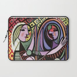 Pablo Picasso Girl before a Mirror 1932 Artwork Reproduction, Tshirts, Prints, Poster, Bags, Men, Wo Laptop Sleeve