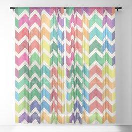 Watercolor Chevron Pattern IV Sheer Curtain