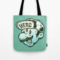 hero Tote Bags featuring Hero by Beery Method