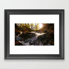 'Autumn Stream' Framed Art Print