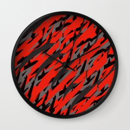 lames noires et rouges Wall Clock
