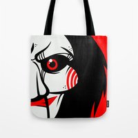 butcher billy Tote Bags featuring Billy by Artistic Dyslexia