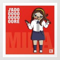 Art Print featuring MEET MINA by MEET THE PUGS