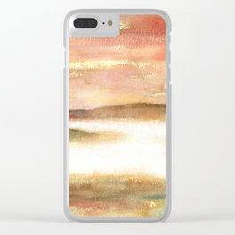 Abstract Landscape Watercolor Art Clear iPhone Case