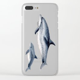 Atlantic spotted dolphin Clear iPhone Case