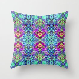Fractal Art Stained Glass G304 Throw Pillow