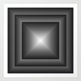 Geometric Art Squared Art Print