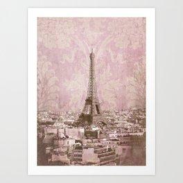 romantic Paris 2 Art Print