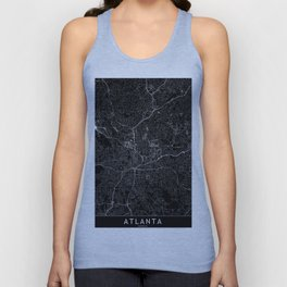 Atlanta Black Map Unisex Tank Top