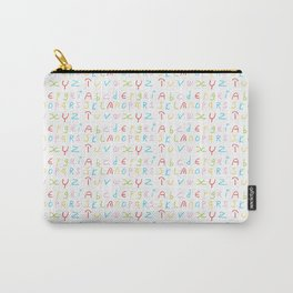 Alphabet -letter,child,language,Abecedarium,abc,abcdefg, symbols,,script,write,writing Carry-All Pouch