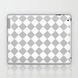 Diamonds - White and Silver Gray Laptop & iPad Skin