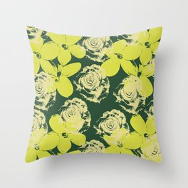 Untitled-5 (flowers) Throw Pillow