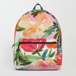 bouquet of huge peonies Backpack