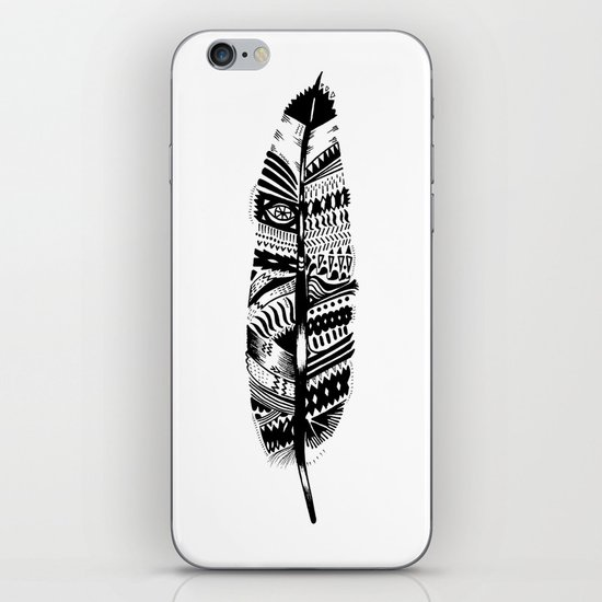 Feather time  iPhone & iPod Skin