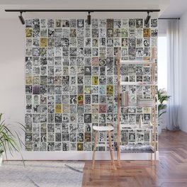 1980's Vintage Punk Flyers Wall Mural