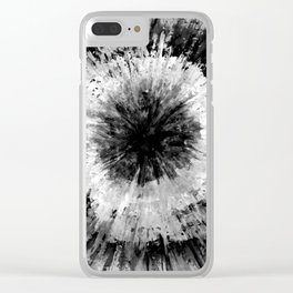 Black and White Tie Dye // Painted // Multi Media Clear iPhone Case