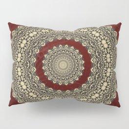 Gold Circle on Royal Red Pillow Sham