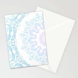 winter sun Mandala Stationery Cards