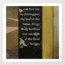 Breadcrumbs: Goldilocks and the Three Bears Art Print