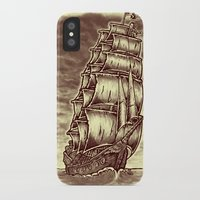 pirate ship iPhone & iPod Cases featuring Caleuche Ghost Pirate Ship by Roberto Jaras Lira